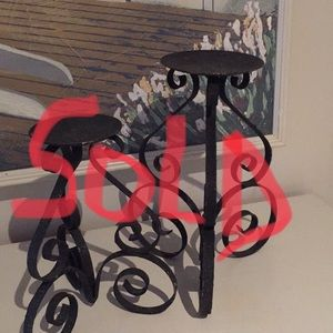 Other - Wrought iron candle holders